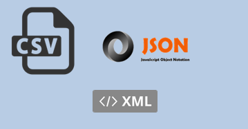 Learn XML/JSON/CSV for Data Storage
