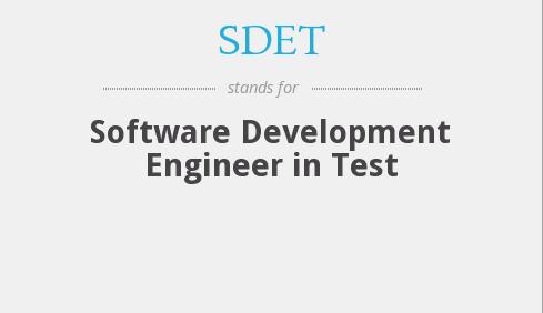 SDET Training - Software Development Engineer in Testing